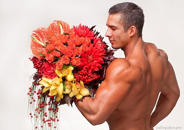 Фото спортсмен с цветами